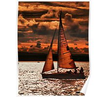 Sunset Sailing Poster
