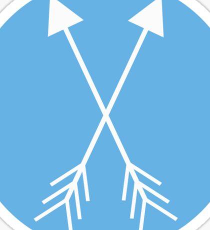 Blue Arrows Sticker