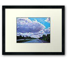 'Floating Island' (Cloud formation, 77N outside of Charlotte) Framed Print