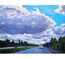 'Floating Island' (Cloud formation, 77N outside of Charlotte) Photographic Print