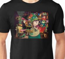 Three Halloween Witches in the kitchen Unisex T-Shirt