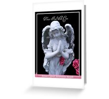 Please Find A Cure Angel Greeting Card