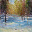 Snow shadows 2 by Julia Lesnichy