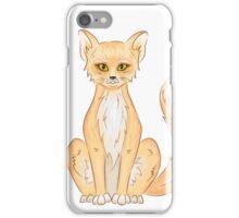 Hand drawn cute sitting fox iPhone Case/Skin