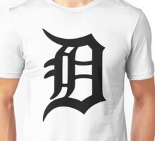 Detroit Old English D (Black) Unisex T-Shirt