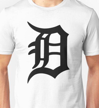 Detroit Old English D (Black) Unisex T-Shirt