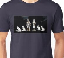 Zombie Couple with Cats Unisex T-Shirt