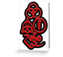 TRIQUETRA - BLACK METAL RED SOLID 2 L Greeting Card
