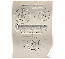 Measurement With Compass Line Leveling Albrecht Dürer or Durer 1525 0013 Graduated Spirals Poster