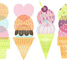 Ice Cream Stamps by katuno