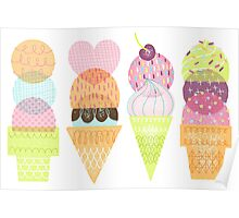 Ice Cream Stamps Poster