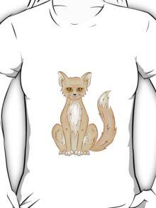 Hand drawn cute sitting fox T-Shirt