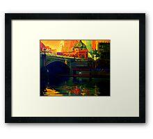 Princes Bridge-Melbourne Framed Print