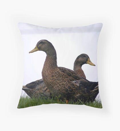 double quacker Throw Pillow