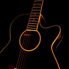 Black Guitar in Dark by Arbaes