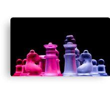 female male chess Canvas Print