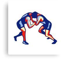 Freestyle Wrestling Retro Canvas Print