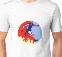 Obstacle Racing Jumping Fire Retro Unisex T-Shirt