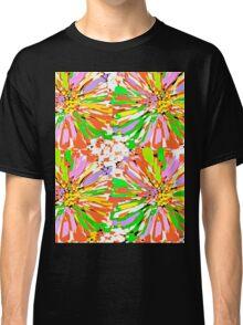 Dahlia Color burst  Flower Abstract Classic T-Shirt