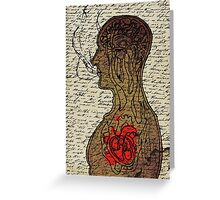 Heart Cooks Brain Greeting Card