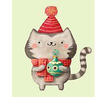 Cute Cat Christmas Photographic Print