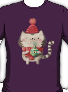 Cute Cat Christmas T-Shirt