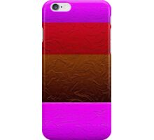Stripes Pink Red Brown  iPhone Case/Skin