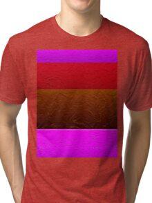 Stripes Pink Red Brown  Tri-blend T-Shirt