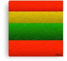 Stripes Red Yellow and Green Canvas Print