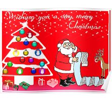 Wishing you a very merry Christmas Card Poster