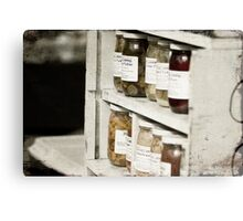 Canned Goods Canvas Print