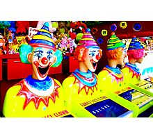 Funny Face Clowns Photographic Print