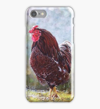 Bantam Cockerel ready to crow iPhone Case/Skin