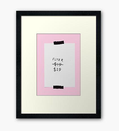 FLYER Framed Print