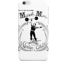 Muscle Man - Vintage Club iPhone Case/Skin