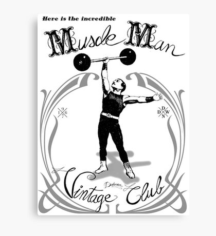 Muscle Man - Vintage Club Canvas Print