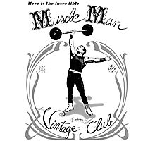 Muscle Man - Vintage Club Photographic Print