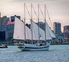 Sail Boat in NAVY PIER by kodakcameragirl
