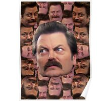 Ron Swanson Head Print Poster