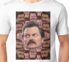 Ron Swanson Head Print Unisex T-Shirt