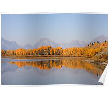 Autumn Reflections Teton NP Poster