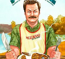 Ron Swanson Turf and Turf by Sebbybeedesign