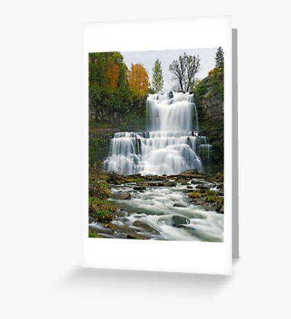 High Flow in Autumn - Chittenango Falls Greeting Card