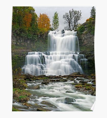 High Flow in Autumn - Chittenango Falls Poster