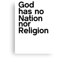 Nor Religion Canvas Print