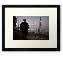 WHO is!!!! that mysterious stranger by the bay?  Framed Print