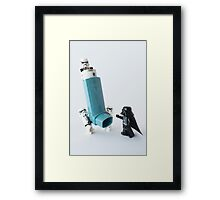Even dark lords of the Sith can have asthma Framed Print