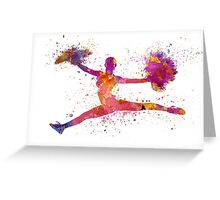 young woman cheerleader 01 Greeting Card