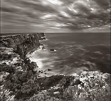 Land, sea, sky - The Bunda Cliffs by Kevin McGennan