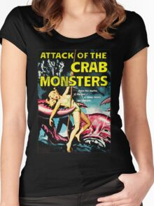 Attack of the Crab Monsters! Vintage  Women's Fitted Scoop T-Shirt